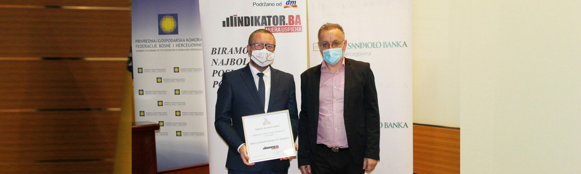 Web portal Indikator.ba awards Intesa Sanpaolo Banka for the best business move in the financial sector